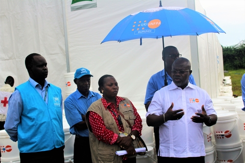 Joint distribution (UNFPA-UNHCR) dignity kits to flood victims