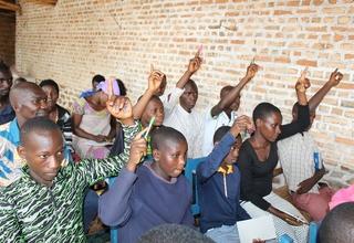 Les élèves participant à la formation, Gisuru-Ruyigi. Photos UNFPA Burundi/Yves Iradukunda.